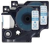 2x Schriftband-Kassetten Dymo D1 40914 S0720690 blau auf weiß (9mm x 7m) kompatibel für DYMO LabelManager 100 110 120P 150 155 160 200 210D 220P 260 260D 280 300 350 350D 360D 400 420P 450 450D 500TS PC PC2 PnP LabelPoint 100 150 200 250 300 350 LabelWriter LW 400 Duo 450 Duo