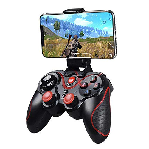 Womdee Wireless Bluetooth Mobile Game Controller with Gamepad Joystick for iOS/Android iPhone iPad Tablet PC, Computer, Smart TV , VR (Black)