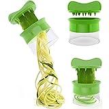 Spiralizer ai verdura Spiral slicer Tagliaverdure Dispositivo a spirale verde