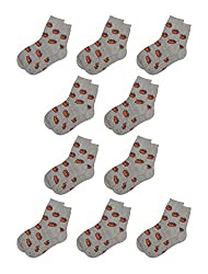 Medium , Gray : Generic Women Elastic Cuffs Stretchy Printed Crew Socks 10 Packs Sock Size 9-11