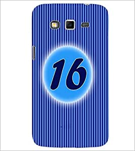 PrintDhaba Numerology Number 16 D-2572 Back Case Cover for SAMSUNG GALAXY GRAND 2 (Multi-Coloured)