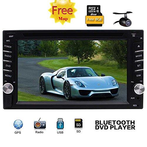 Backup-Kamera als Geschenk! Doppel 2din Autoradio in dem Schlag Auto-DVD-CD-Player-Steuerger?t GPS-Navigation Radio Stereo Unterst¨¹tzung 1080P Video / SWC / Bluetooth / FM AM RDS Radio / USB / SD