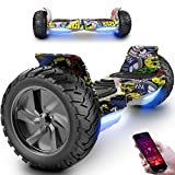 Patinete Eléctrico 8.5' SUV Scooter Monopatín E-Balance Board Motor 700W con Bluetooth App...