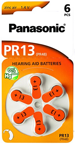 30 Stück (5 Blister) Panasonic Typ 13 Hörgerätebatterie Zinc Air P13 PR48 ZL2 mit 2 Stück LUXTOR® Reinigungstücher für Hörgeräte und Otoplastiken Panasonic Typ