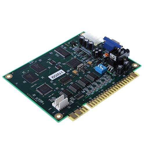 MagiDeal Verticale Arcade Videospiel 60 in 1 Multi-Spiel JAMMA PCB Board CGA/VGA Ausgang Multicade Arcade Platine Leiterplatte