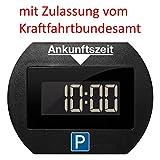 Needit Park Lite elektronische Parkscheibe digitale Parkuhr schwarz mit offizieller