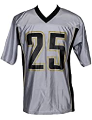 NFL New Orleans Saints Homme Reggie Bush 25 Fashion Dazzle Jersey, argent & or