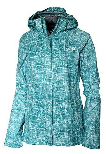 The North Face Women's Novelty Venture Full Zip Hooded Waterproof Rain Jacket (Green Print, S) North Face Women Venture Jacket