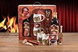 Feuerzangentasse Geschenkset Wurzelholz-Design Feuerzangenbowle weiß