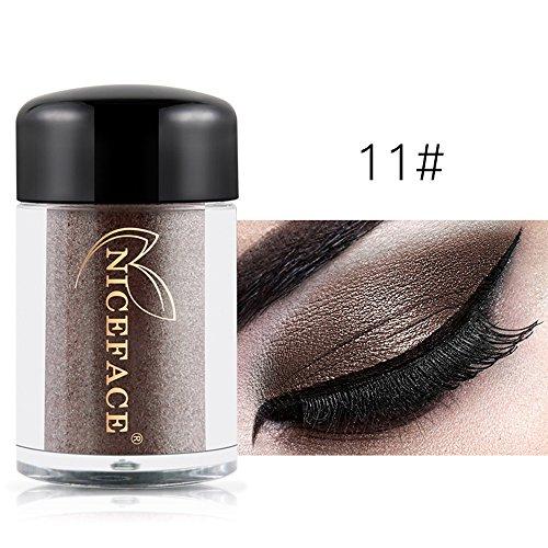 Vovotrade Heiß !! NICEFACE 17 Farben glänzende Augenschatten Make-up Wasserdichte Perle Metallic Lidschatten (Palette Metallic Make Silber Up)