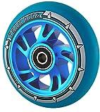 1Single Team Dogz Hunde Pro 4100mm Legierung Metall Core Swirl Stunt Scooter Rad ABEC 988A PU, Blue PU Blue Core
