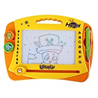 discoball Magnetic Drawing Board Kids Magnetic Board Erasable Sketcher Tablet Magnet Doodle Pad 2 Stamps Learning Toys for Children Toddlers 2 year old up