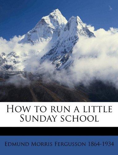How to run a little Sunday school