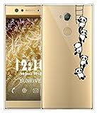 Coque Pour Sony Xperia XA2 Ultra 6,0 pouces, Sunrive Silicone Étui Housse Protecteur souple TPU Gel transparent Back Case(tpu Panda 1)+ STYLET OFFERTS