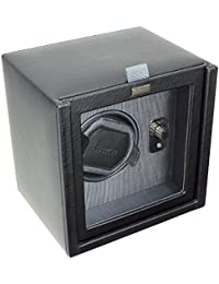 Dulwich Designs mens accessories | black & grey single watch winder rotator