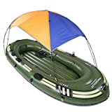 EP-inflatable boat Multifunktions-Schlauchboot, Gummi-Ruderboot PVC Mehrpersonen-Verdickung aufblasbare Universal-Aluminium-Legierung,S