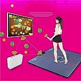 AQzxdc Tapis de Danse Double avec Deux poignées sans Fil, Ordinateur de télévision Massage à Double Usage Minceur Machine de Danse, Plug and Play Dance Pad