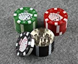 Deal Moulin à 3 pièces Aluminium Poker Chip polinator Herb Grinder 40 mm