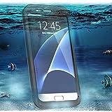 Casefashion étui Coque Pour Samsung Galaxy S7 Edge Ultra Slim Full Body Durable Case Waterproof Shockproof Dirtproof Snowproof avec Touch Screen Responsive cover - Noir