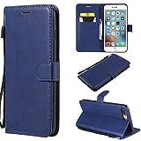Coque iPhone 7/8 Plus, Housse Rabat avec Fentes de Cartes Fermeture pour Apple iPhone...