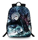 Cosstars Tokyo Ghoul Anime Rucksack Backpack Büchertasche Schulrucksack Schultasche für Schüler Jungen Mädchen /8
