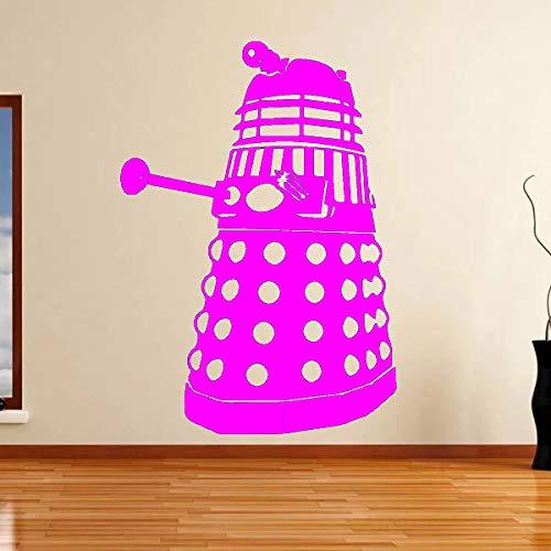 yaoxingfu Vinyl Art Design Home Decor Doctor Who Dalek Wall Sticker Camera da Letto Orna WW-5 42X60CM
