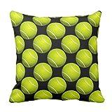 Sofakissenbezug mit Tennisball-Design, für die Couch, quadratisch, 45 x 45 cm, aus Segeltuch, Dekoration für Ihr Zuhause
