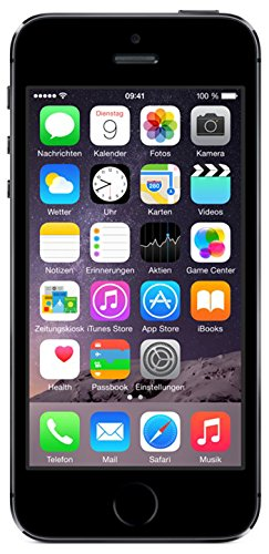 Apple iPhone 5S Smartphone 16GB (10,2 cm (4 Zoll) IPS Retina-Touchscreen, 8 Megapixel Kamera, iOS 7) Spacegrau (Iphone 5 16gb Schwarz Unlocked)