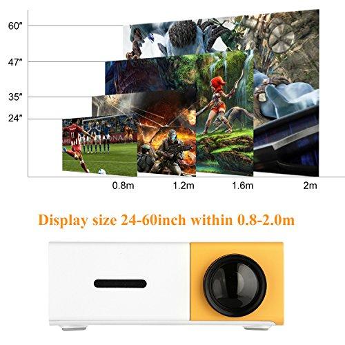 PowerLead Mini Beamer Mini geführtes 1080P volles HD Minikino-Projektor - 2