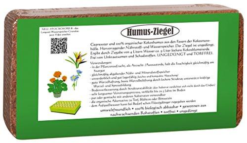 24 x 650 Gramm Kokoserde Humusziegel -torffreie Blumenerde - Kokosfaser Brikett Kokosfasersubstrat Kokosblumenerde Blumenerde Kokos Blumenerde Anzuchterde Aussaaterde Pflanzerde Kokoshumus -fein-