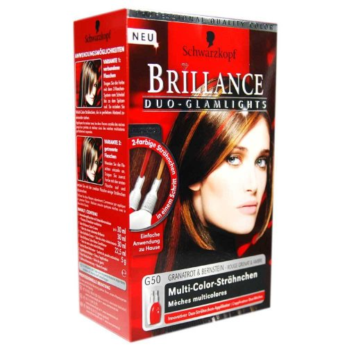 schwarzkopf brillance duo glamlights rot und blond ton 2 farbige - Coloration Ton Sur Ton Dfinition