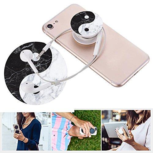 Erweiterbare Basis und Griff für Smartphones und Tablets- schwarz Marmor Weiß Yin-g Yang