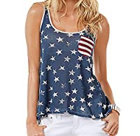 Tootlessly Women Bow Tie Sleeveless Off Shoulder Flag Sexy Vest Tops White 2XL