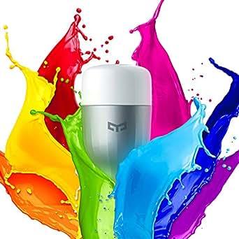 Intelligents Ampoules Multicolore Ollivan Xiaomi Yeelight Smart Light Bulb Lampe Ampoule LED Dimmable E27 9W Basse Consommation WiFi Bulb With App avec Télécommande Multicolour Wifi Bulb