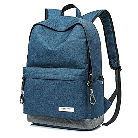 Slim Laptop Backpack Lightweight Rucksack School Book Bags , blue