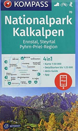 Nationalpark Kalkalpen, Ennstal, Steyrtal, Pyhrn-Priel-Region: 4in1 Wanderkarte 1:50000 mit Aktiv Guide und Detailkarten inklusive Karte zur offline ... Skitouren. (KOMPASS-Wanderkarten, Band 70)