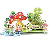 Purplerain - Puzle de papel con forma de casa para el aprendizaje temprano, fantástico regalo para niños (paisaje rural), regalo perfecto para niños
