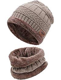 Amazon.fr   Beige - Packs bonnet, écharpe et gants   Accessoires ... 1bdbf3c2738