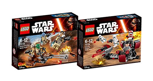 Lego Star Wars Set - 75133 Rebel Alliance Battle Pack Mixed + 75134 Galactic Empire Battle Pack Mixed