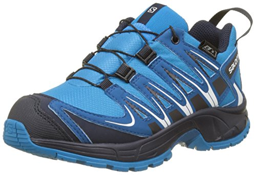 Salomon Kinder XA Pro 3D CSWP Trailrunning/Outdoor-Schuhe, Blau (Hawaiian Surf/Mykonos Blue/Navy Blazer), Gr. 38 (Pro Salomon Xa)