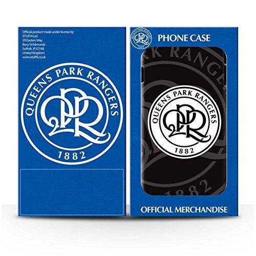 Offiziell Queens Park Rangers FC Hülle / Glanz Harten Stoßfest Case für Apple iPhone 8 / Königsblau Muster / QPR Fußball Crest Kollektion Schwarz
