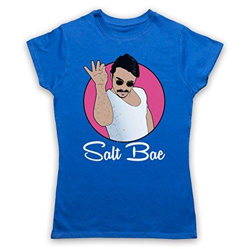Inspiriert durch Salt Bae Turkish Chef Funny Meme Inoffiziell Damen T-Shirt Blau