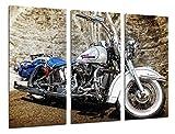 Cuadro Moderno Fotografico Moto Harley Davidson, Moto Vintage, 97 x 62 cm, ref. 26494