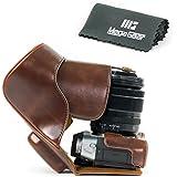 """'MegaGear """"Ever Ready Étui appareil photo en cuir, Sac de protection pour Fujifilm x-t10avec 16–50mm ou 18–55mm Appareil Photo Numérique (Marron foncé)"""