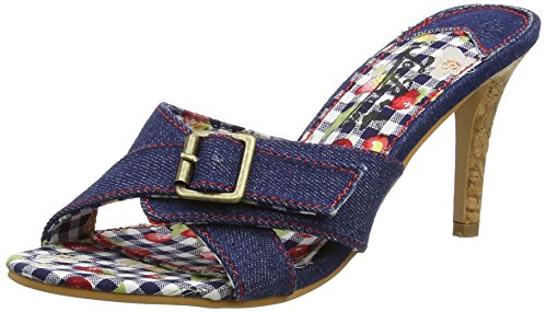 Joe BrownsAt the Hop Denim Mules - Sandali a Punta Aperta donna , blu (Blue (a-denim)), 36.5