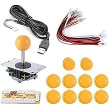 XCSOURCE® Zero Delay Juego de Arcade Joystick USB codificador PC DIY Kit para Mame Jamma y Otros Fighting PC Juegos Amarillo AC549