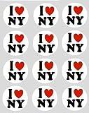 12 I Love New York design reispapier märchen / cup cake 40mm toppers vorgestanzt dekoration