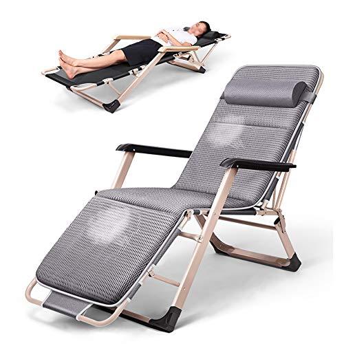 FF Liegestühle Extra breiter Schwerelosigkeitsstuhl für schwere Personen, Patio-Chaiselongue-Sessel, Lay Falt-Sonnenliege mit Kissen, £ 330-Unterstützung - Extra Breiter Falt -
