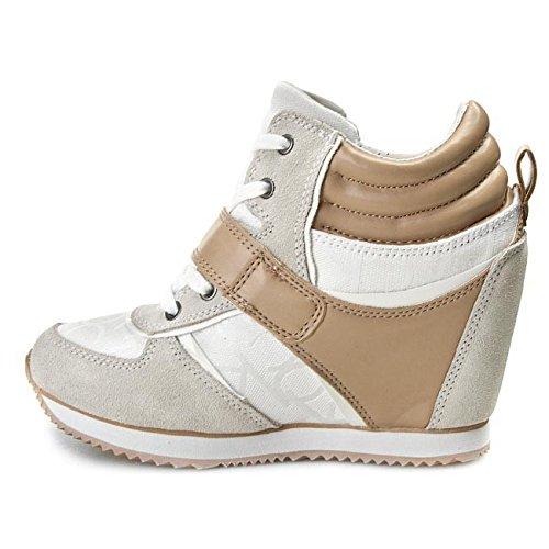 Calvin Klein Jeans Viridiana, Baskets mode femme Blanc