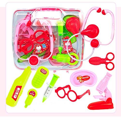 t Medical Play Carry Set Fall Bildung Rollenspiel Spielzeug Kit Geschenk Kinder spielen Haus Puzzle Simulation Medizin Box (Red) (Halloween-papier-spiele)
